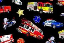 In Case of Emergency / Emergency medical, fireman and fire truck fabrics and the creative ideas we found on Pinterest.