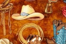 Howdy Cowboy / Ride on up am make yourself something spiffy with these cowboy and cowgirl fabrics, Y'all.