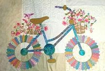 Cycles, Bikes, and Scooters / Fabric and Fabric Crafts with bicycles, motorcycles and scooters.