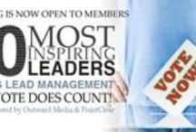 40 Mosting Inspirational Leaders in Sales Lead Management / Inspiring Leadership is different from influential leadership. We believe inspirational leadership is based on thought leadership applied to problem solving. An inspirational leader may lead his or her salespeople, the company they work for, the industry they serve or the customers they accommodate. They lead people and companies to be more productive in marketing and sales disciplines; they are often agents of change.