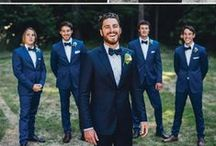 The Suit / Pinterest isn't just for the women. We want to help the Groom and his groomsmen with their choice of suit for the day (or the bride if you're picking it (; )