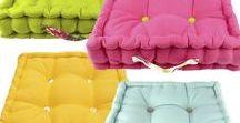 Ragged Rose Box Cushions Range / Box cushions for your garden