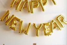 silvester // new years eve / Glitzerndes Silvester: Tolle Ideen in Gold und Silber für einen glamourösen Jahreswechsel!