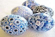 Eggs Over Easy / Egg decorations / by Amber V Hammond | Two Storks Designs