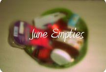 Monthy Empties ♠