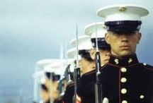 Leathernecks / From the Halls of Montezuma To the Shores of Tripoli; We fight our country's battles In the air, on land and sea; First to fight for right and freedom  And to keep our honor clean;  We are proud to claim the title  of United States Marine. / by Steve Parker