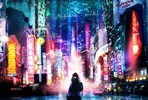Cyberpunk cityscapes