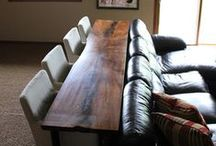 Wood and Red Living Room / by Sheree Miller