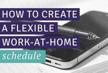 productivity + organization / Pretty and practical organization tips for the freelancer who runs a business & works from home. / by Carrie Smith | Financial Organization Expert