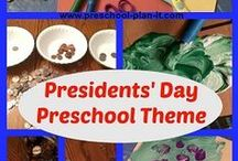 Patriotic Ideas / Preschool Theme Ideas for Presidents Day, Memorial Day, 4th of July and more!