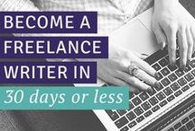 become a freelance writer / Want to earn a living for your family? Learn how to become a freelance writer & earn $4,000 or more per month by being your own boss. / by Carrie Smith | Financial Organization Expert
