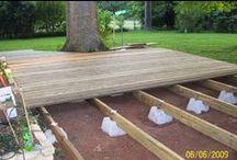 Backyard / Decks, patios, landscaping / by Lisa Chaney Koch