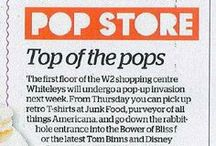 National Coverage / National coverage of our pop up and retail stores, designed and created by Pop Store.