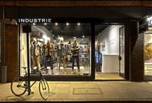 Industrie Retail / Industrie is an Australian clothing make. Their store on Earlham street is their first in the UK, and currently the only one outside Australia. They wanted a look and feel that reflected the brand. Raw materials and textures alongside sleek white tongue and groove walls complement the brand's denim and work-wear style. Custom-designed rails and display units ensure a unique environment for this internationally expanding brand.