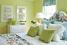 Green Blue decor for bedroom
