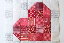 Quilt Blocks: Hearts / Don't forget to come back and shop at Christmas at Heart for high quality 100% cotton for quilting, fun holiday patterns, and beautiful hand-stitched gifts. / by Christmas at Heart