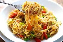 Pasta and Noodles / Pasta Recipes | Noodle Recipes | Baked Pasta | Mac and Cheese Recipes | Spaghetti Recipes | Pasta Salad