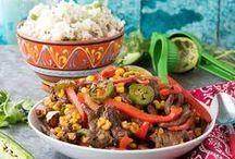 Mexican Food / My favorite kind of food! Fajitas, tostadas, burritos, I love it all!