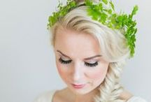 The Natural Bride / A natural wedding palette. Green wedding.