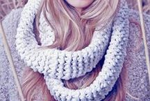 Infinity Scarves ∞ Fashion never ends!! / The fashion cycle never ends!! A display of SAAKO's infinity scarves in stock and in style for this fall/winter! Comfy, warm and easy to wear!