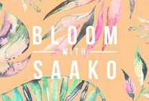 BLOOM with SAAKO / Get ready for spring! Take a look at our most popular change of season products! Floral printed Mías, Scarf-laces, tote bags and cosmetic bags!  New Look book ---> http://saakodesign.com/lookbooks/