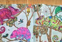 Colouring Inspiration - Kerby Rosanes / Mythomorphia , Imagimorphia , Animorphia , Doodle Invasion