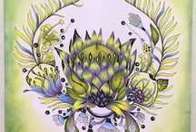 Colouring Inspiration - Rachel Reinert / Botanical Wonderland , Desert Wonderland