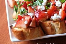 Easy Appetizers / Appetizers and sweets in bite size portions that are perfect paired with a glass of wine or adult beverage.