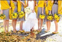 Grey + Yellow Flowers / Grey and yellow wedding flowers Classic wedding color combinations
