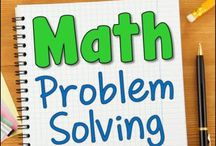 Math Problem Solving / Teaching resources, freebies, printables, and blog posts about math problem solving for elementary students.