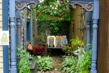Outdoor Rooms / Lovely living spaces - lights, rooms, porches / by Donna Bell