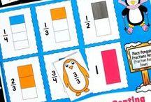 Penguin Fractions / Teacher resources from Laura Candler's Penguin Fractions series