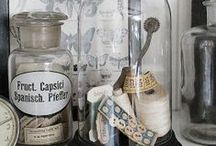 Glass~ Bottles, Jars, Cloches etc.
