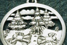 Pewter Christmas Ornaments Made in USA - Celebrate the Season / Pewter Christmas Ornaments make a fantastic gift and last a lifetime. Elegant and timeless for your Christmas Decor Celebrate the Season