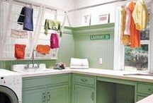 Laundry Room Design / Inspiration for keeping your laundry room clean, crisp, and efficient.
