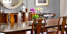 Dining Room Design / Collection of inspirational dining rooms and their tables and decor by This Old House and others