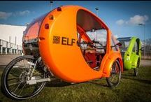 The ELF / The most sustainable means of transport: the ELF electric tricycle, powered by solar panels. / by Kwalitisme