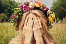 Flower Child / The hippie girl, the flower child, the free spirit, the one who lives life beautifully and simply. Young, wild, and full of adventure.