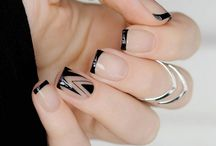 Nails / The simple yet elegant and modern looking nail art or nail color!