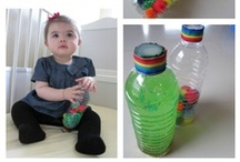 Activities for Babies  / and Toddlers ! Who says a 12 month old can't paint? Crafts and activities for babies and toddlers.