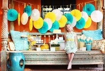 yellow and turquoise party / by Ilana Mendonca