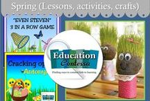 SPRING HOLIDAYS (Crafts and lessons) / Spring, Earth Day, Easter crafts and ideas for the classroom.     If you would like to start pinning education ideas on this board, send me an email at EducationContessa@gmail.com with your Pinterest name. Pinners - limit your product pins to no more than 3 a day and they must be on the topic of the board. Pin as many ideas and freebies as you want.