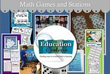 Math games - Math stations / Math games and stations for elementary and Middle School.  If you would like to join this board, just follow and email me at EducationContessa@gmail.com to let me know which boards you would like to join. Be sure to include your Pinterest address.