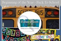 beginning of the year - back to school / lessons, activities, games for the beginning of the year in elementary and middle school.  If you would like to join this board, just follow and email me at EducationContessa@gmail.com to let me know which boards you would like to join. Be sure to include your Pinterest address.