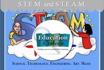 STEM & STEAM / Science, Technology, Engineering, Art, and Math - inquiry and lab based science lessons and group activities.    If you would like to start pinning education ideas on this board or any of my boards, send me an email at EducationContessa@gmail.com with your Pinterest name and the boards you would like to join. Limit your product pins to no more than 3 a day and they must be on the topic of the board. Pin as many ideas and freebies as you want.