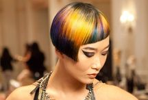 Creations by artist of hairdressers