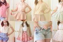Oblečko:-) / T- shirts, dresses, skirts, shorts,  trousers