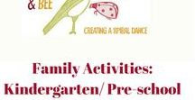Family Activities: Kindergarten/ pre-school / Art, maths, science, technology, engineering and sensory play activities for 2-4 year olds