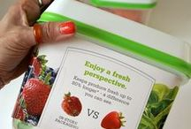 Fruit & Veggie Hacks / #ad Save money on fruit and veggies with Rubbermaid FreshWorks containers! #FreshWorksFreshness