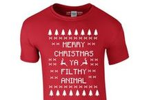 Christmas T Shirts / Funny Christmas T Shirts For Men and Women. Get some novelty Christmas Tees! An alternative to ugly Christmas jumpers, these tees have some festive designs and aren't itchy or horrible to wear